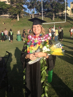 University of Manoa, Class of 2013: Chancellor Lacro earning her doctoral degree.