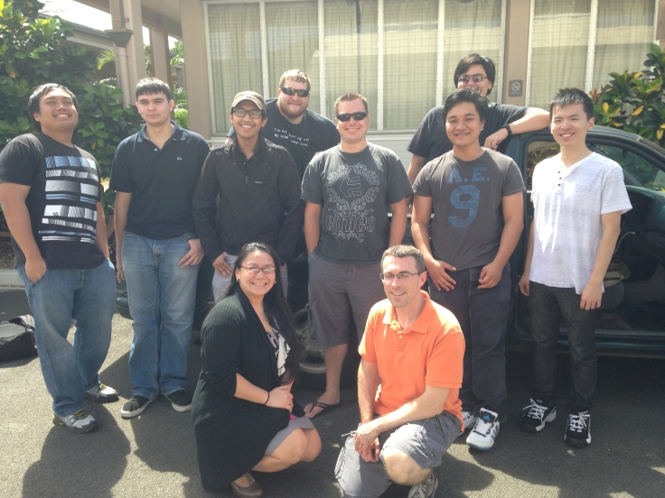 Honolulu CC and UH West Oahu students in the CENT program.