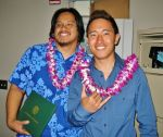 Jonathan Wong (right) with Blake Sakata. Photo provided by J. Wong