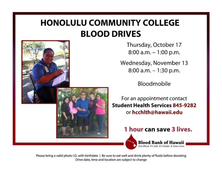 Blood Drive Oct-Nov 2013