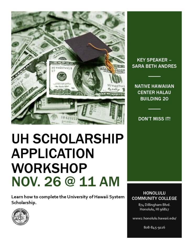 UH Scholarship App Workshop Media Flyer (1)