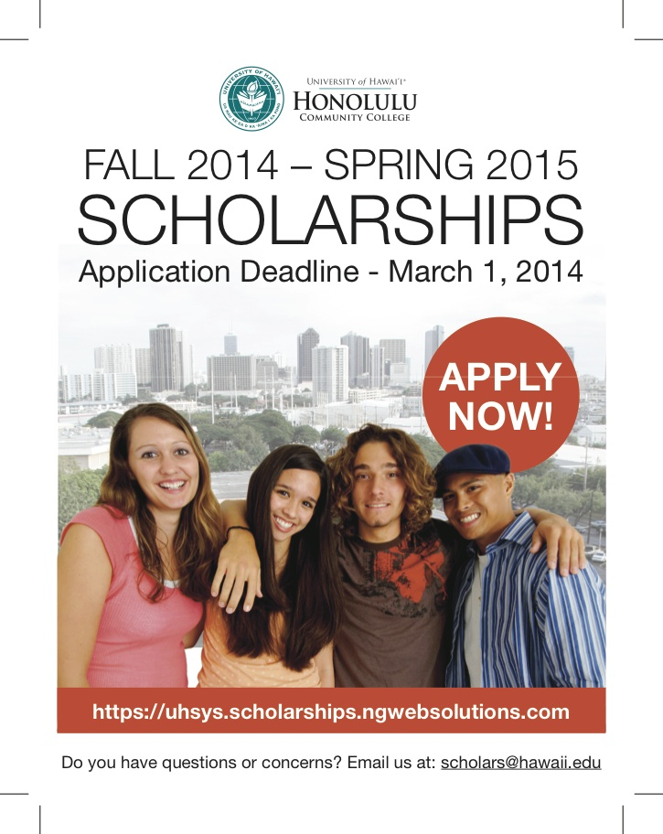 honolulucc scholarship flyer