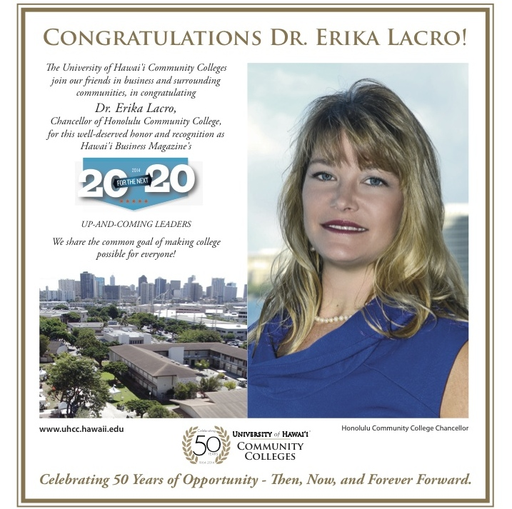 Dr. Erika Lacro, Honolulu CC