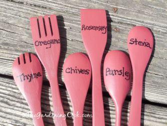 Wood Spoon Garden Marker